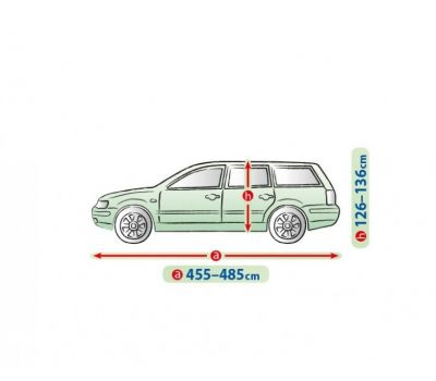 Prelata auto, husa exterioara Audi A4 Avant/ Combi impermeabila in exterior anti-zgariere in interior lungime 455-480cm, XL Hatchback/ Combi, model Mobile Garage
