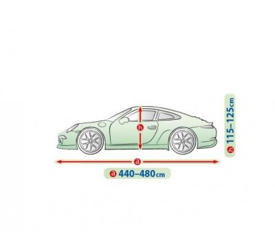 Prelata auto, husa exterioara Audi A5 Sportback impermeabila in exterior anti-zgariere in interior lungime 440-480cm, XL Coupe, model Mobile Garage