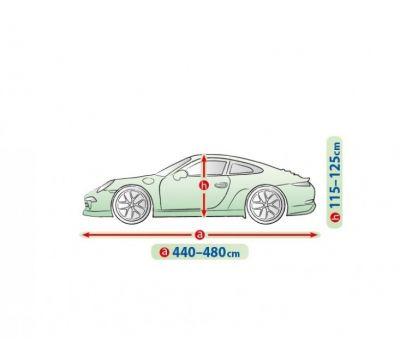 Prelata auto, husa exterioara Bmw Seria 3 E36 Coupe impermeabila in exterior anti-zgariere in interior lungime 440-480cm, XL Coupe, model Mobile Garage