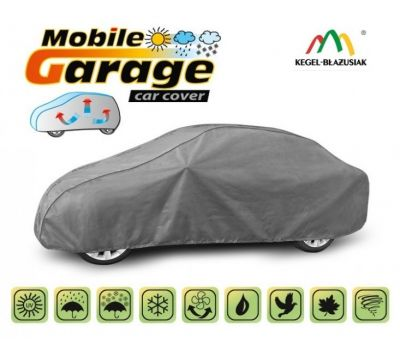 Prelata auto, husa exterioara Bmw Seria 3 Sedan E30 E36 E46 E90 impermeabila in exterior anti-zgariere in interior lungime 425-470cm, L Sedan model Mobile Garage
