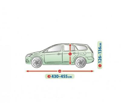 Prelata auto, husa exterioara Ford Focus 2 Hatchback  impermeabila in exterior anti-zgariere in interior lungime 430-455cm, L2 Hatchback/ Combi, model Mobile Garage