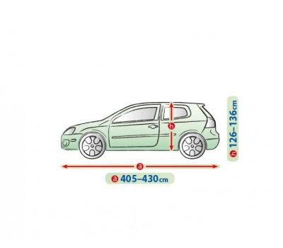 Prelata auto, husa exterioara VW Golf 6 Hatchback impermeabila in exterior anti-zgariere in interior lungime 405-430cm, L1 Hatchback/ Combi, model Mobile Garage