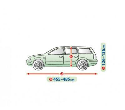 Prelata auto, husa exterioara VW Passat Combi  impermeabila in exterior anti-zgariere in interior lungime 455-480cm, XL Hatchback/ Combi, model Mobile Garage