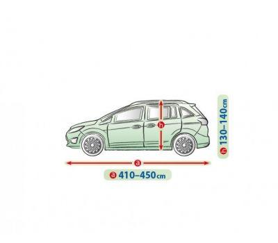 Prelata auto, husa exterioara VW Touran impermeabila in exterior anti-zgariere in interior lungime 410-450cm, L Van, model Mobile Garage