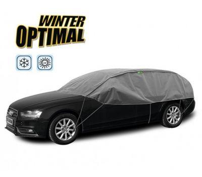 Semi Prelata auto, husa exterioara Vw Passat Combi, pentru protectie impotriva inghetului si soarelui, marime L-XL Hatchback Combi, lungime 295-320cm, model Winter Optimal