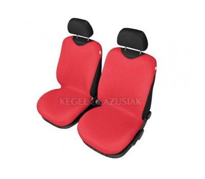 Set huse scaune fata tip maieu pentru Audi 100, culoare Rosu, 2 bucati