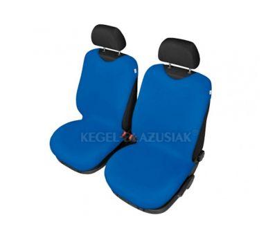 Set huse scaune fata tip maieu pentru Fiat Punto, culoare Albastru, 2 bucati