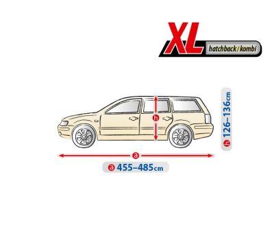 Prelata auto, husa exterioara Skoda Octavia 3 Combi , impermeabila in exterior anti-zgariere in interior lungime 455-480cm, XL Hatchback/ Combi, model Optimal Garage