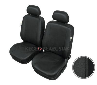 Huse scaune auto imitatie piele Audi 80 set huse fata, culoare negru