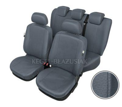 Huse scaune auto imitatie piele Audi A1, set Fata + Spate, Culoare Gri