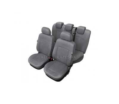 Set huse scaun model Arcadia pentru Audi A4, culoare gri, set huse auto Fata si Spate