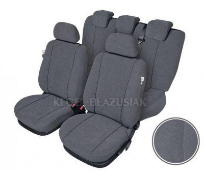 Set huse scaun model Elegance pentru Audi A4, culoare gri, set huse auto Fata + Spate