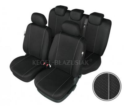 Set huse scaun model Hermes Black pentru Alfa Romeo Giulietta 2010-2013, set huse auto Fata + Spate