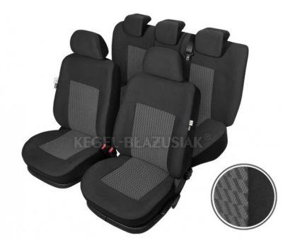 Set huse scaun model Perun pentru Audi A4, culoare Negru, set huse auto Fata + Spate