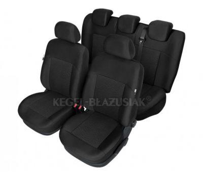 Set huse scaun model Poseidon Negru pentru Alfa Romeo Mito , set huse auto Fata + Spate