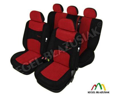 Set huse scaune auto SportLine Rosu pentru Alfa Romeo Mito