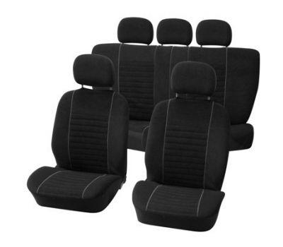 Huse scaune Dacia Duster set huse auto fata si spate Value gri cu negru
