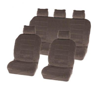 Huse scaune Dacia Logan Sedan set huse auto fata si spate Washington Grey