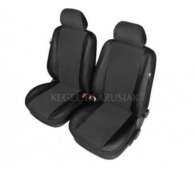 Set huse scaun model Centurion pentru Skoda Octavia , culoare negru, set huse auto Fata