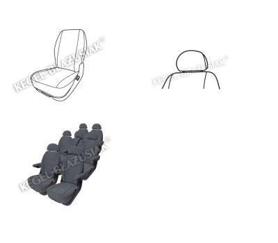 Huse scaune auto VW Touran pentru scaunele din fata (2buc - 1 husa scaun si 1 husa tetiera )