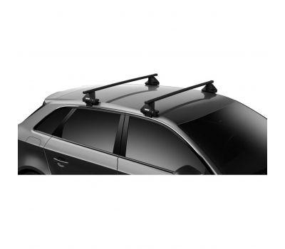 Bare transversale Thule Evo Clamp Squarebar pentru VW Passat (B7), 4 usi Sedan, model 2010-2014, Sistem cu prindere pe plafon normal