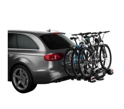 Suport biciclete Thule VeloCompact 927 cu prindere pe carligul de remorcare  + adaptorul Thule 9261, pentru 3 sau 4 biciclete