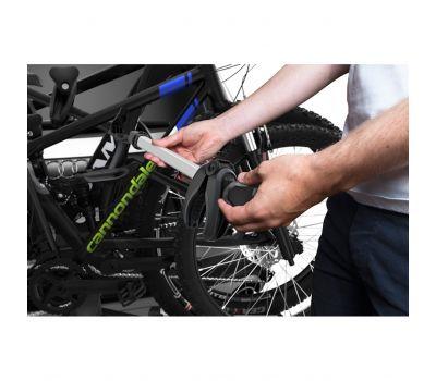 Suport biciclete Thule VeloSpace 939 XT3 cu prindere pe carligul de remorcare (13pini) + Adaptor 9381 pentru biciclete Thule VeloSpace XT